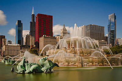 Photograph - Buckingham Fountain Chicago  73a7254 by David Orias