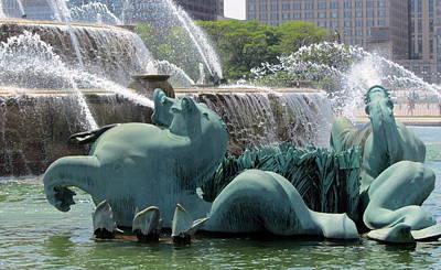 Photograph - Buckingham Fountain Close Up 2 by Anita Burgermeister