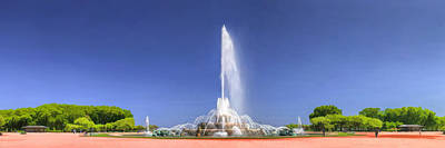 Grant Park Painting - Buckingham Fountain Panorama by Christopher Arndt