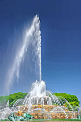 Buckingham Fountain Spray Art Print