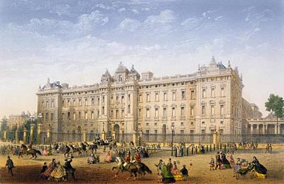Buckingham Palace, C.1862 Art Print by Achille-Louis Martinet