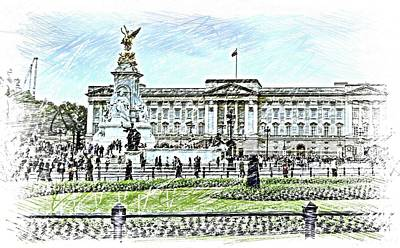 Buckingham Palace Digital Art - Buckingham Palace by Eve Mercer