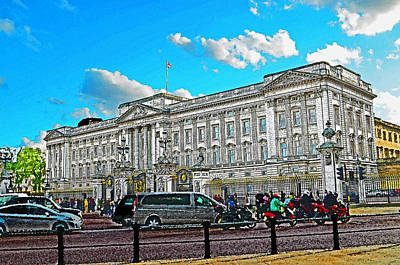 Buckingham Palace Mixed Media - Buckingham Palace by Peter Allen