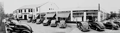 Black Commerce Photograph - Buckingham Shopping Center 1, Glebe Rd by Fred Schutz Collection