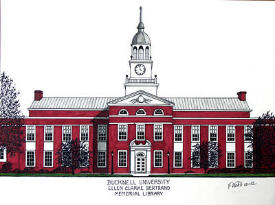 Drawing - Bucknell University by Frederic Kohli