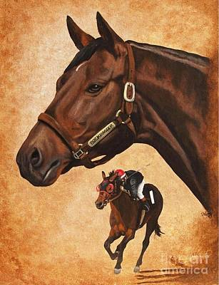 Painting - Buckpasser by Pat DeLong
