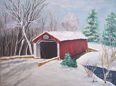 Bucks County Covered Bridge Art Print by Lucia Grilletto
