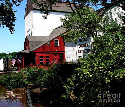 Photograph - Bucks County Playhouse by Jacqueline M Lewis