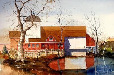 Painting - Bucks County Playhouse by William Renzulli