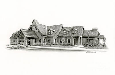 Architecture Drawing - Bucks County Spca by Sarah Batalka