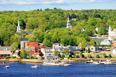Art Print featuring the photograph Bucksport Maine Waterfront by Barbara West