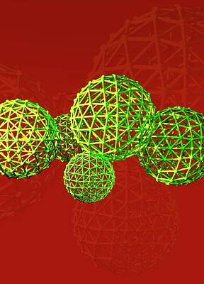 Buckyball Molecules Art Print by Victor Habbick Visions