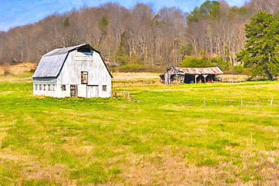 Photograph - Bucolic Dairy Barn In North Georgia Landscape by Mark E Tisdale