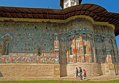 Romanian Icons Photograph - Bucovina Frescoes by Dennis Cox WorldViews