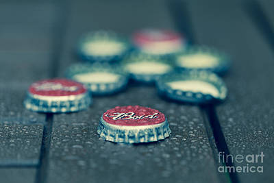 Photograph - Bud Bottle Caps by Jim Orr