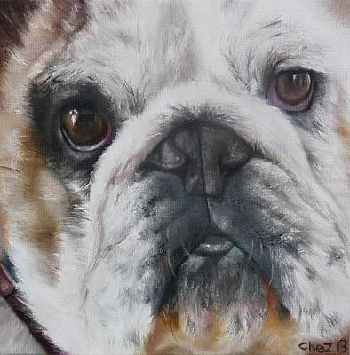 Bulldog Oil Painting - BuD by Cherise Foster