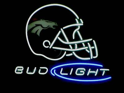 Photograph - Bud Light Bronco Helmet by Steven Parker