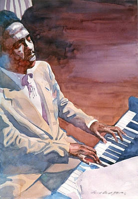 Painting - Bud Powell - Paris Blue by David Lloyd Glover
