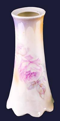 Bath Time - Bud Vase with Rose Glaze by Lynn Hansen