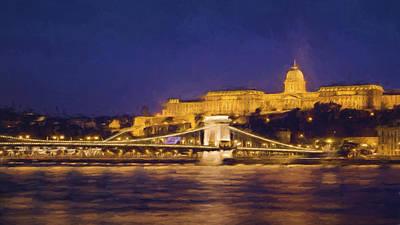 Eastern Europe Photograph - Buda Castle And Chain Bridge II by Joan Carroll