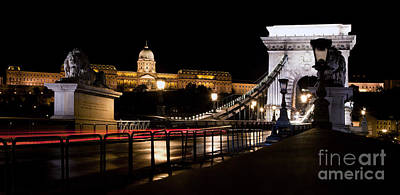 Chains Photograph - Buda Castle And Chain Bridge In Budapest by Michal Bednarek