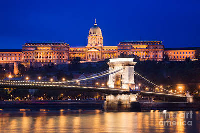 Photograph - Buda Castle And Chain Bridge by Michal Bednarek