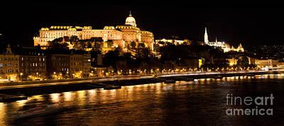 Urban Photograph - Buda Castle By Danube River. Budapest by Michal Bednarek