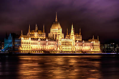 Buda Parliament  Art Print by Nathan Wright