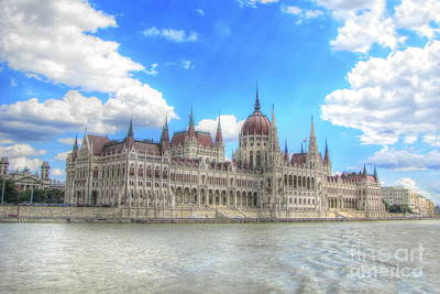 The Church Mixed Media - Budapesht Hungary Palace by Yury Bashkin