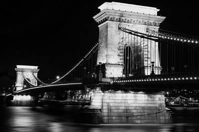 Budapest Bridge Black And White Original