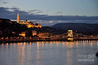 Budai Photograph - Budapest Castle And Bridge At Night  by Imran Ahmed