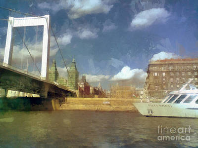 Budapest Elisabeth Bridge Art Print by Odon Czintos