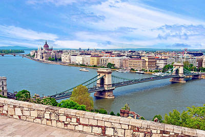 Danube Photograph - Budapest, Hungary, Scenic View by Miva Stock