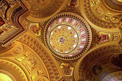 Budapest Attractions Photograph - Budapest, Hungary, St Stephens Basilica by Miva Stock