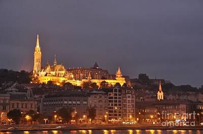 Gothic Digital Art - Budapest City At Night by Anthony Morretta