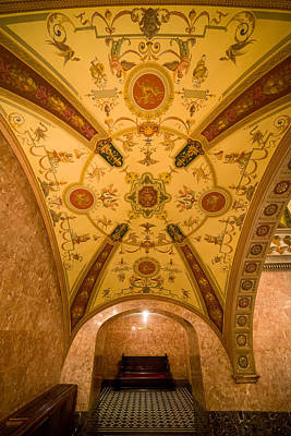 Budapest Attractions Photograph - Budapest Opera House Foyer Ceiling by Artur Bogacki