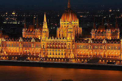 Photograph - Budapest Parliament by Allan Rothman