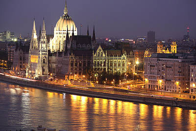 Photograph - Budapest Parliament Buildings by Shirley Mitchell