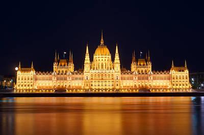Budapest Parliament Art Print by Ioan Panaite