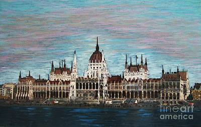 Painting - Budapest Parliament By Jasna Gopic by Jasna Gopic