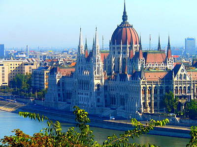 Art Print featuring the photograph Budapest Parliament by Kay Gilley