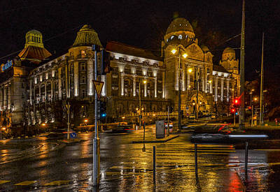 Budapest Hungary Hotels Photograph - Budapest Rainy Evening  by Christine Czernin Morzin