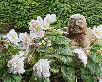 Photograph - Budda And Begonias by Denise Romano