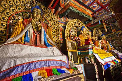 Buddahs Erdene Zuu Monastery Mongolia Art Print by Colin Monteath