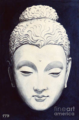 Painting - Buddha by Art By - Ti   Tolpo Bader