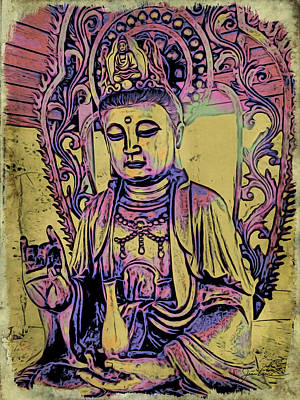Painting - Buddha Blessings by Joan Reese