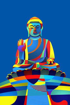 Buddha Blue Art Print
