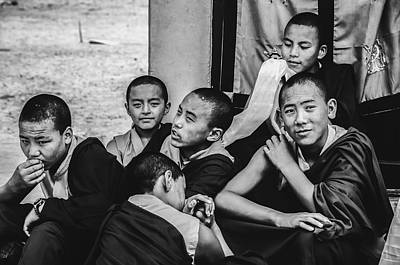 Photograph - Buddha Boys by Valerie Rosen