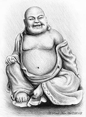 Person Drawing - Buddha Buddy by Andrew Read