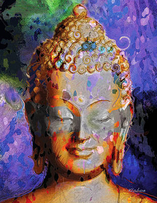 Art Print featuring the painting Buddha by David Klaboe